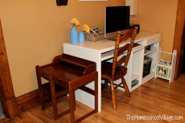 Homeschool Preschool Desk