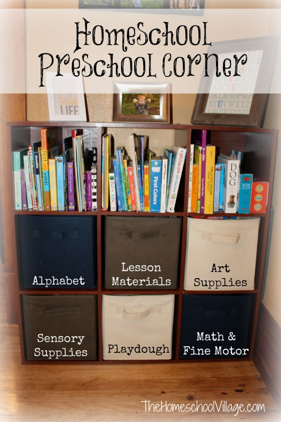 Setting Up a Homeschool Preschool Corner