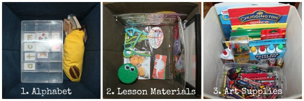 Homeschool Preschool Bins