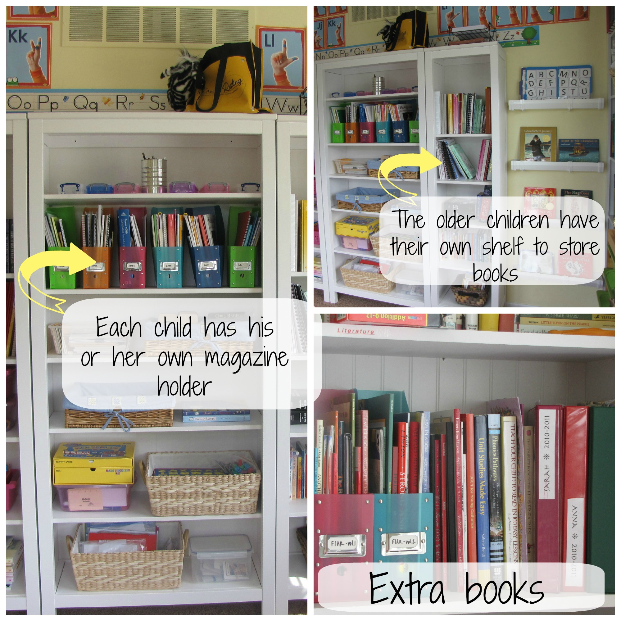 School room organization for a big family the homeschool for Room organization