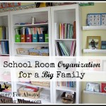 School Room Organization for a Big Family