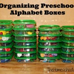 Organizing Preschool Alphabet Boxes