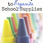 Frugal Ways to Organize School Supplies