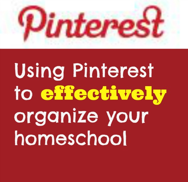 pinterest to organize homeschool