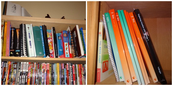 storing homeschool books