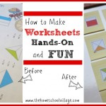 How to Make Worksheets Hands-On and Fun