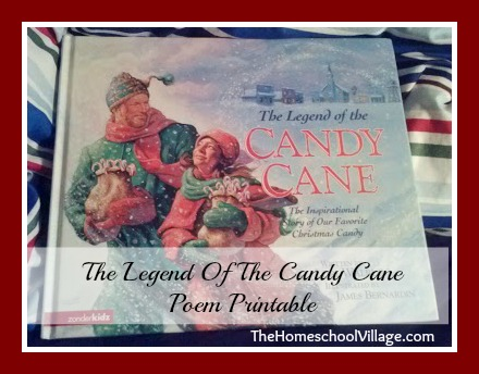 Legend Of The Candy Cane Poem Printable - TheHomeschoolVillage.com