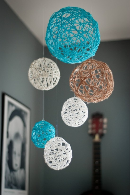 How To Make Decorative String Balls Delectable Balloon And Starch Ornament Christmas Craft  The Homeschool Village Review