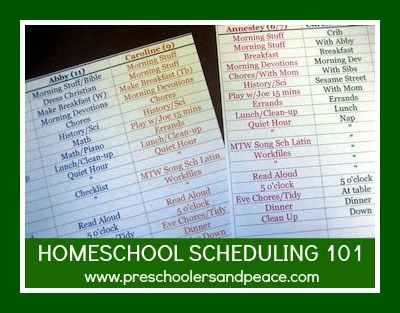 Homeschool Scheduling 101: a solution for many of your scheduling fails.