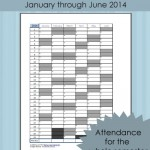 FREE Printable: Homeschool Attendance Record