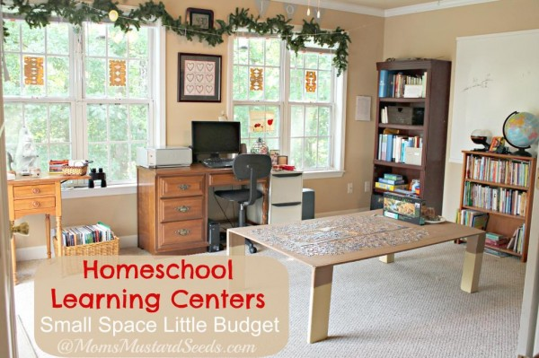Homeschool Learning Centers in a little space and with a little budget!