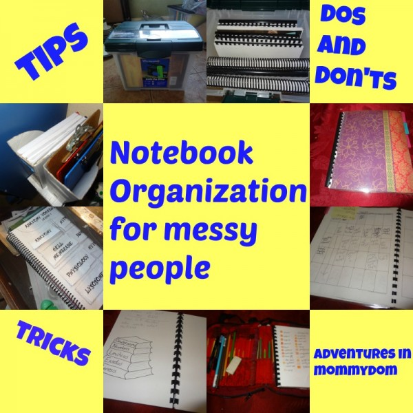 Notebook organization for messy people. This real-life homeschool mom can help you tame the notebook clutter!