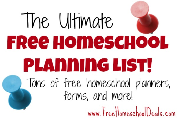 FREE Homeschool Planning Resources You will LOVE LOVE LOVE!