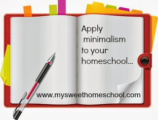 Organizing your homeschool through minimalism. Great tips!