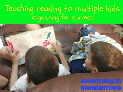 Do you have multiple children learning to read? Get organized!