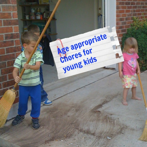 Age appropriate chores for young kids.