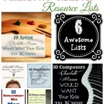 6 Charlotte Mason Resource Lists