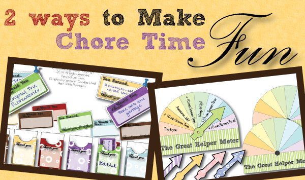 Fun Chore Printables. Customizable motivation for you and the kids!