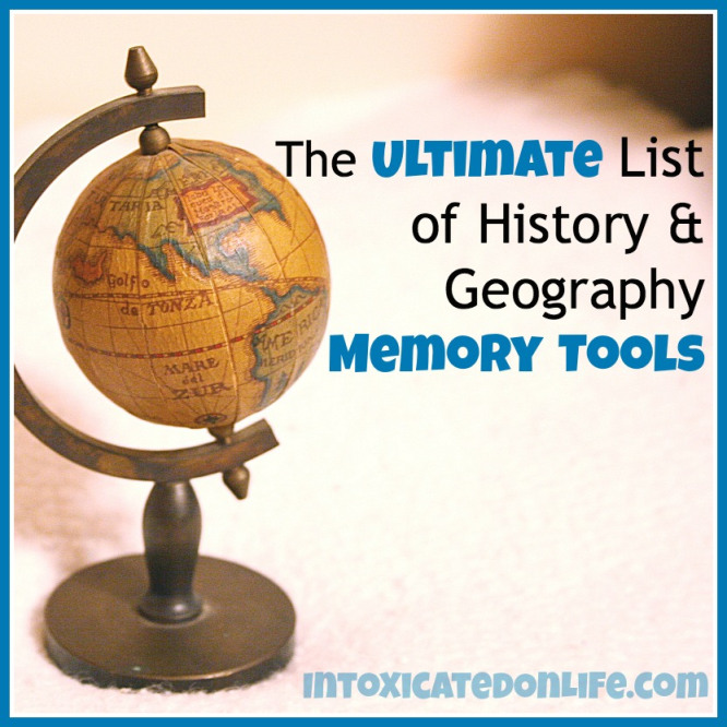 Ultimate list of history and geography memory tools. Great resource!
