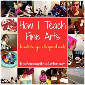 How I Teach Fine Arts to Multiple Ages with special needs.