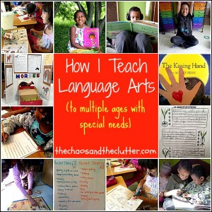 How I Teach Language Arts to multiple ages with special needs.