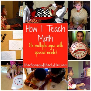 How I teach math to multiple ages with special needs.