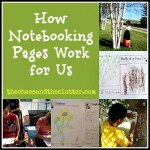 Organizing Notebooking Pages