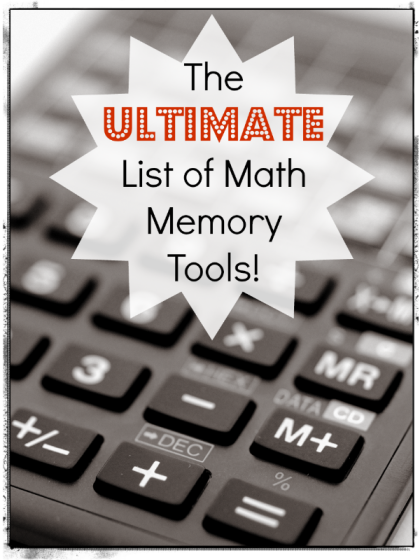Math memory tools list. So excellent!