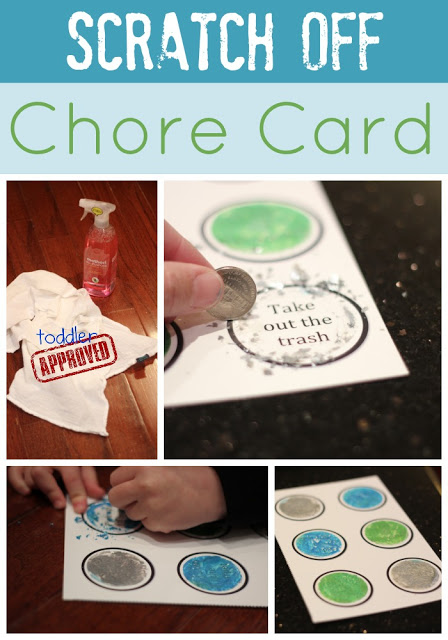 Scratch Off Chore Card...I am in LOVE with this idea!