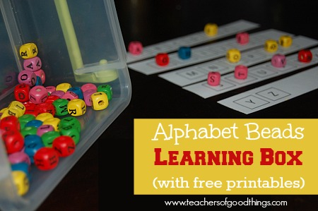 Alphabet Learning Boxes. Free printable!