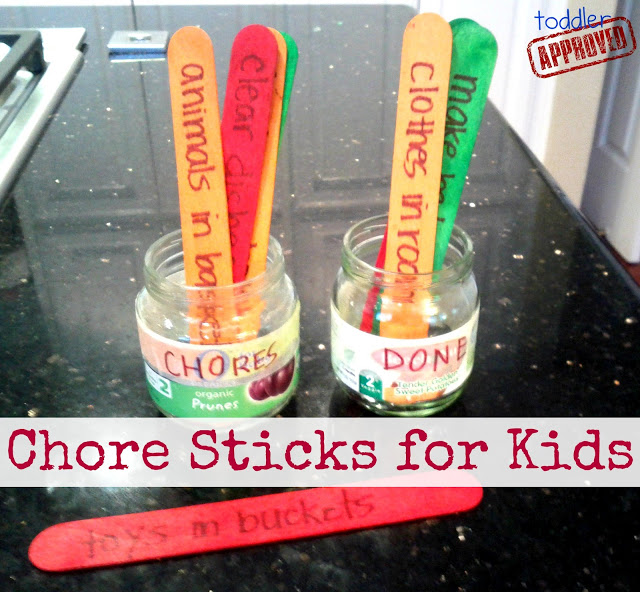 Chore sticks for kids...even perfect for little ones!