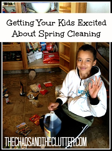 Getting Your Kids excited about spring cleaning. Love this!
