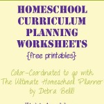 FREE Curriculum Planning Printables