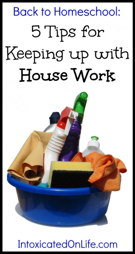 Keeping up with housework when you homeschool.
