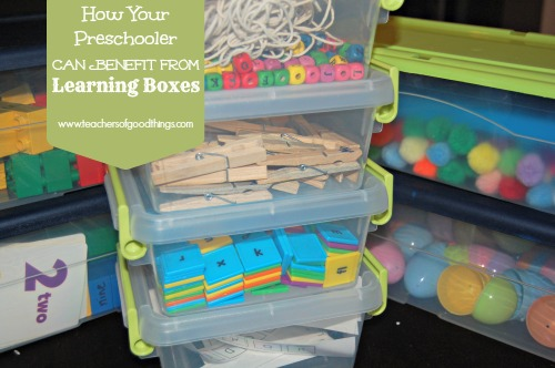 How your preschooler benefits from learning boxes. Such a great collection of ideas and printables!
