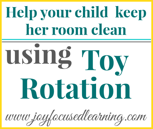 Help your child clean her room with a toy rotation system. Brilliant.