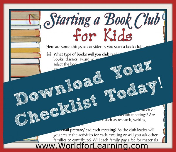 Checklist for starting a bookclub for kids