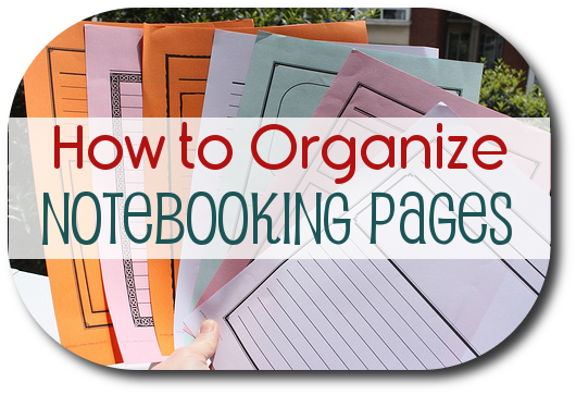 organize-notebooking-pages