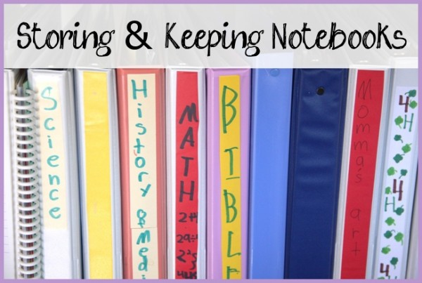 Storing and Keeping Notebooks