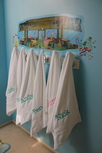Tips for organizing the kids' bathroom