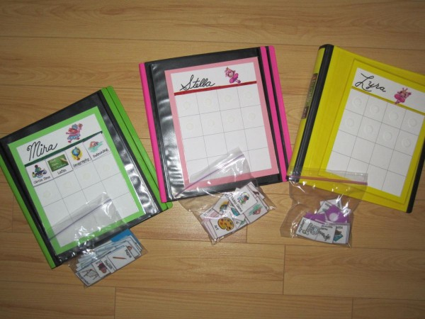 Using Day Charts to organize your child's homeschool work (a spinoff of workboxes)