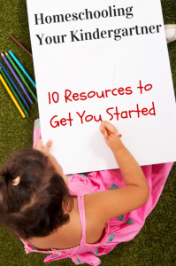 Looking for resources for homeschooling your kindergartner? This post is full of some great resources