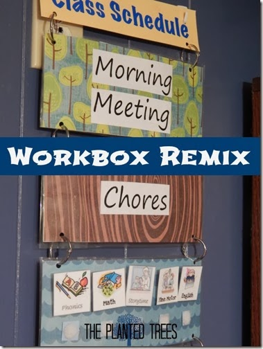 Workboxes are great because they can be changed and customized to fit the needs of any family.