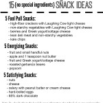 Trim Healthy Mama Snack Ideas Printable {no special ingredients}
