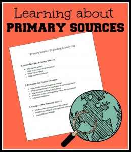 Evaluating Primary Sources (free printable)
