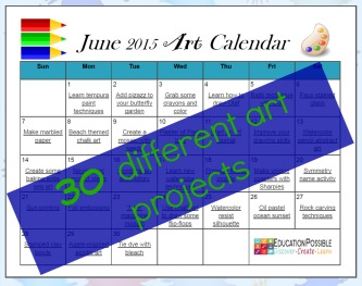 FREE 30 Day Summer Art Plan