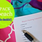 Easy Packing for the Beach with a Free Printable Checklist