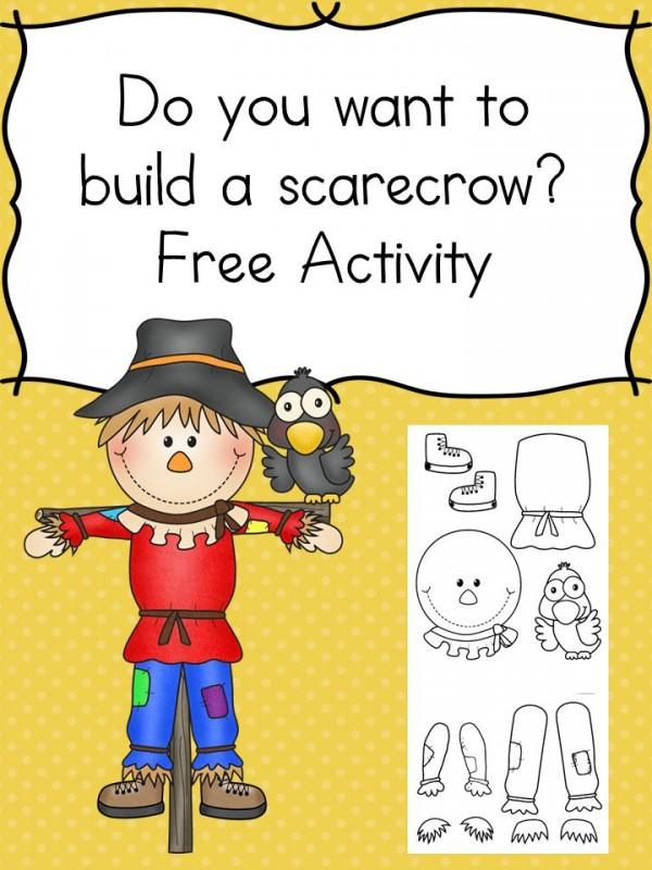 image relating to Scarecrow Printable identified as Produce Your Private Scarecrow Printable - The Homeschool Village