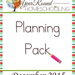 Free December Homeschool Planning Pack
