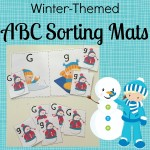FREE Winter-Themed ABC Sorting Mats